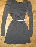 Sukienka swetrowa H&M szara 38