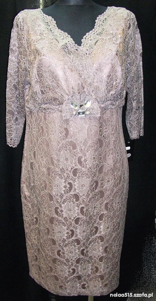 15c660caba Elegancka sukienka z koronki rozmiar XL w Suknie i sukienki - Szafa.pl