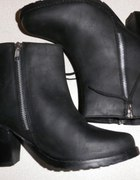 Bianco nieziemskie czarne botki