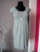 szara sweterkowa tunika sukienka