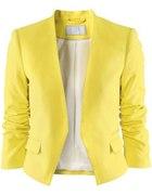 Limonkowa żółta marynarka H and M h&m żakiet