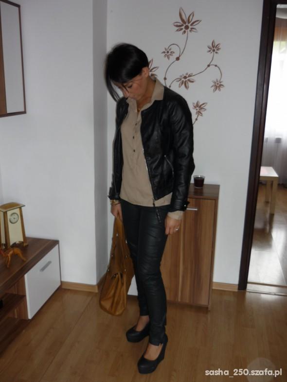 Mój styl Spodnie skorzane