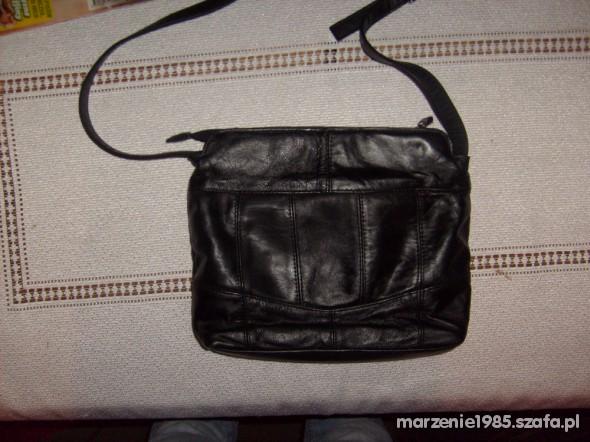 15b0d34254fb9 Lorenz accessories skórzana czarna torebka w Torebki na co dzień ...