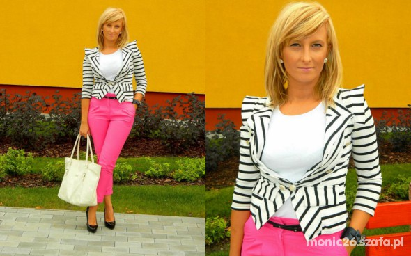 Do pracy Black&pink&white