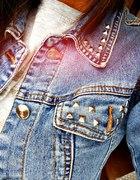 Katana jeansowa z dżetami