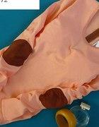 morelowa bluzka z łatkami