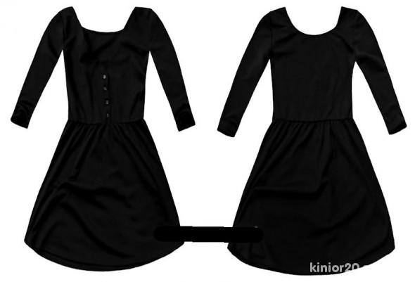 Suknie i sukienki Rozkloszowana Stradivarius S czarna NOWA