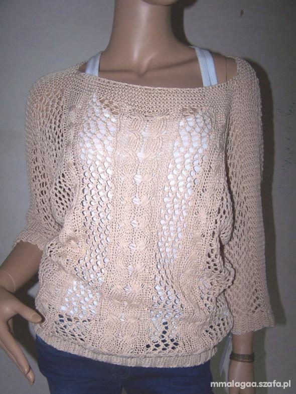 ażurowy sweterek krem beż