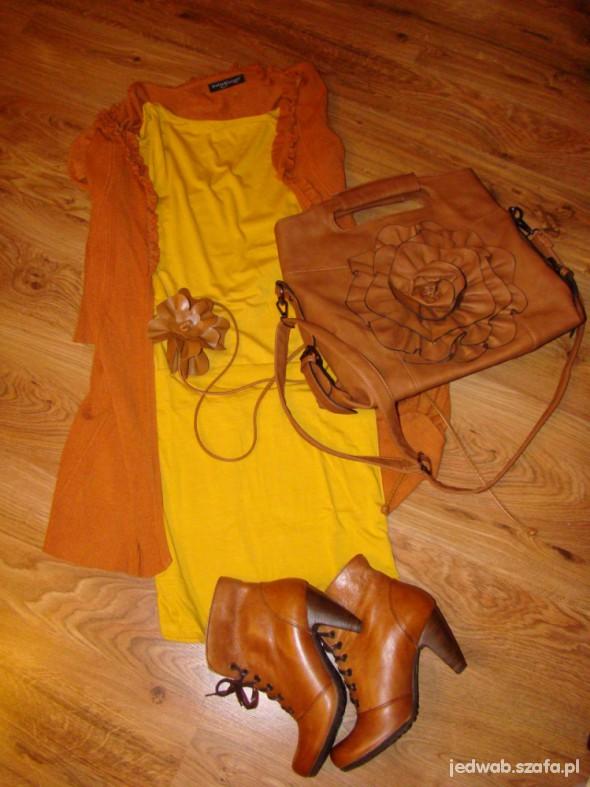 Mój styl Jesiennie musztarda i karmel