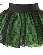 Zielona tiulowa spódnica z koronką Hell Bunny...