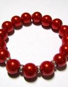 Czerwona perła z cyrkonią