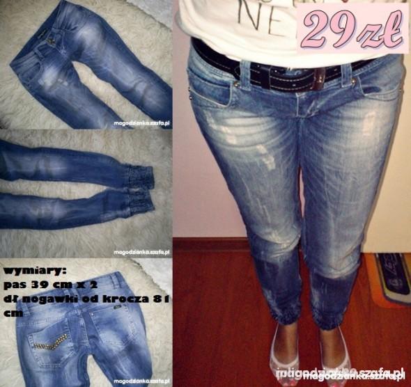 Ubrania Jeansy ze ściągaczami