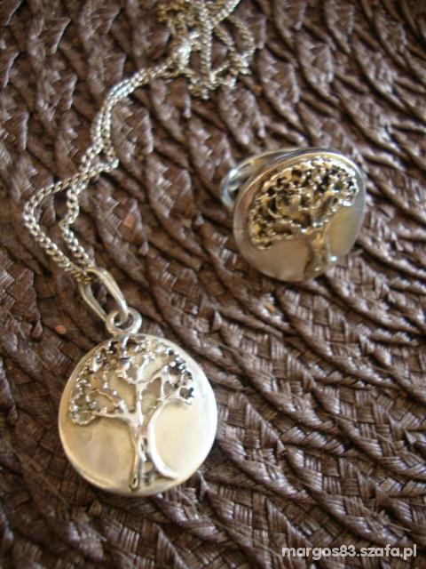 Srebrny komplet drzewa