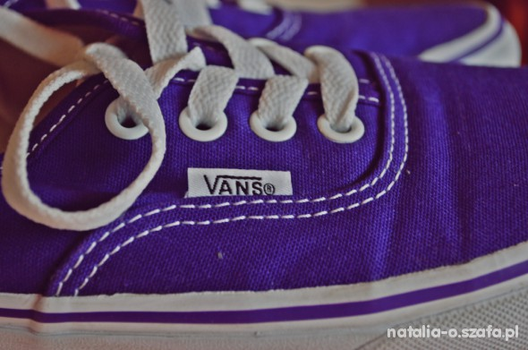 vans authentic fioletowe