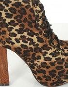 Botki Lity Leopard panterka platformy