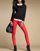 H&M czerwone rurki...