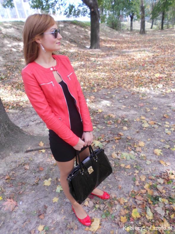 Mój styl red jacket