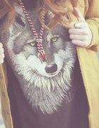 bluzka z motywem wilka