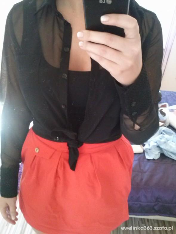 Eleganckie pomarańczowa spódnica