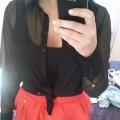 pomarańczowa spódnica