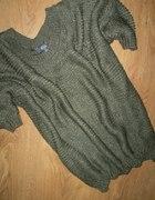 metaliczny sweter oversize Taniooo