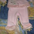 Różowy komplecik dla dziewczynki 12m