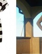 sukienka zip z pasiastej podkoszulki