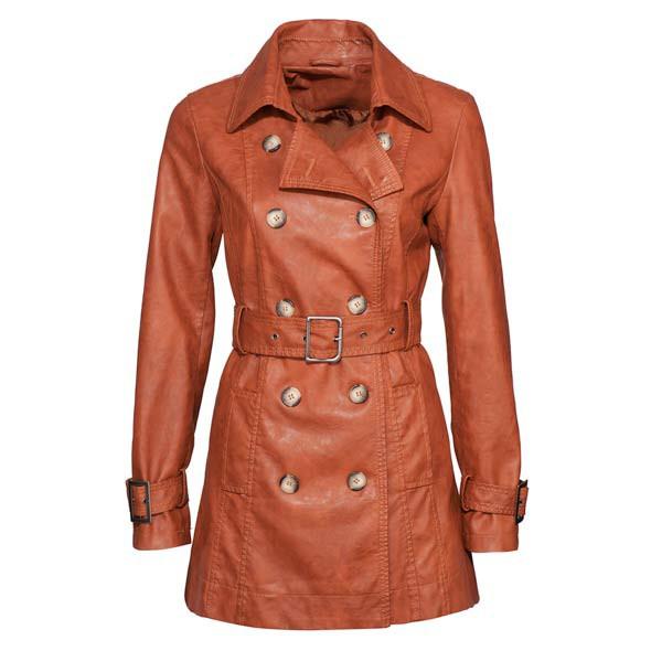 Ubrania Płaszcz skóra Amisu New Yorker 36 M rudy
