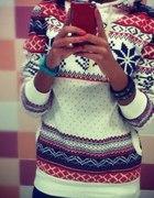 cudny gruby sweter norweski