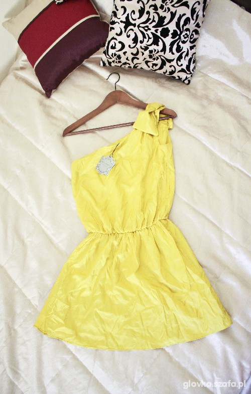 Suknie i sukienki sukienka na jedno ramię