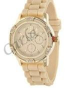 Zegarek Jelly Watch Geneva Kremowy Kryształy