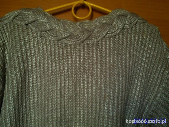 sweterek na jesień warkocz...
