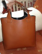 Usztywniana shopper bag camel