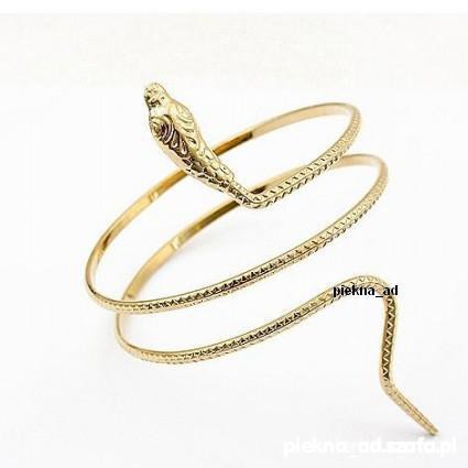 Bransoletka wąż złoty