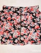 spodniczka w kwiaty zip