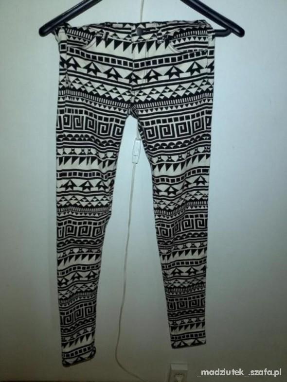 spodnie hm slim skiny ento aztec 36 s