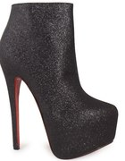 Black Glitter High Heels