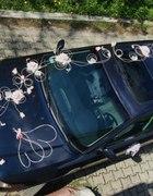Dekoracja ślub ślubna samochodu auta tanio