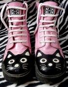 TUK kocie kitty cat kot kotek emo Glany trampki
