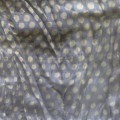 Chusta długa szal szara miodowa żołta w kropki hit