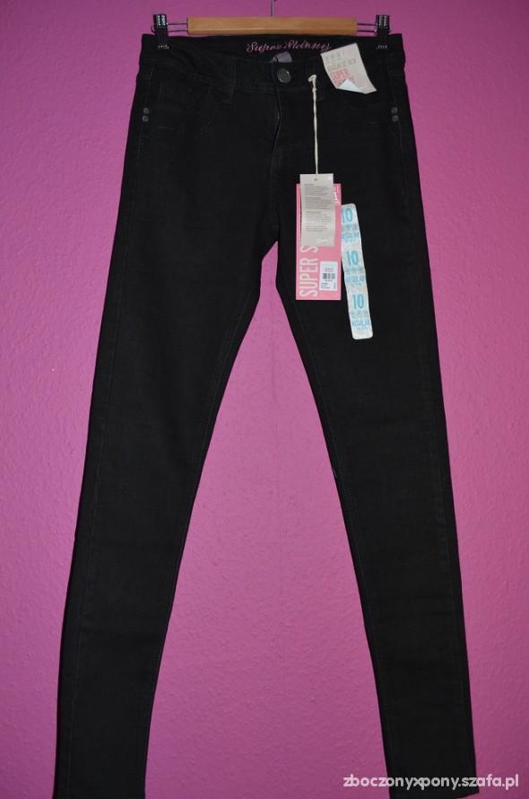 Spodnie Nowe czarne rurki gratis koszulka Black Milk