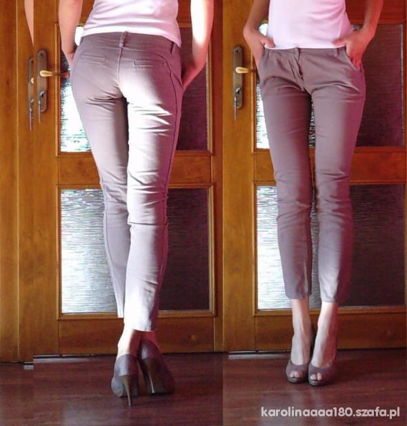 Spodnie spodnie beż 7 8