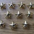 Złote ćwieki gwiazdki gwiazdy pukle