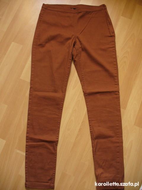 Spodnie brązowe rurki H&M