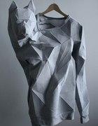 bluza origami wilk bluzka