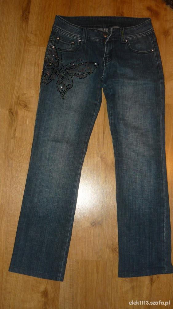 Spodnie ciemne jeansy