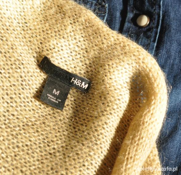 Swetry Złoty sweter HM rozmiar 36 S złota nić