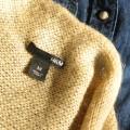 Złoty sweter HM rozmiar 36 S złota nić