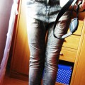spodnie z obniżonym krokiem