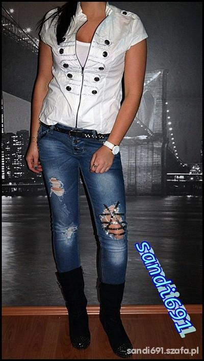 Mój styl biel czerń i jeans